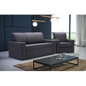 Rozkładana sofa Ewelina, z funkcją spania i pojemnikiem na pościel