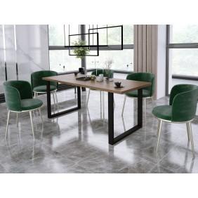 Stół loftowy (185x67) w dwóch odcieniach blatu do wyboru