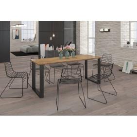 Stół loftowy (185x90) w dwóch odcieniach blatu do wyboru
