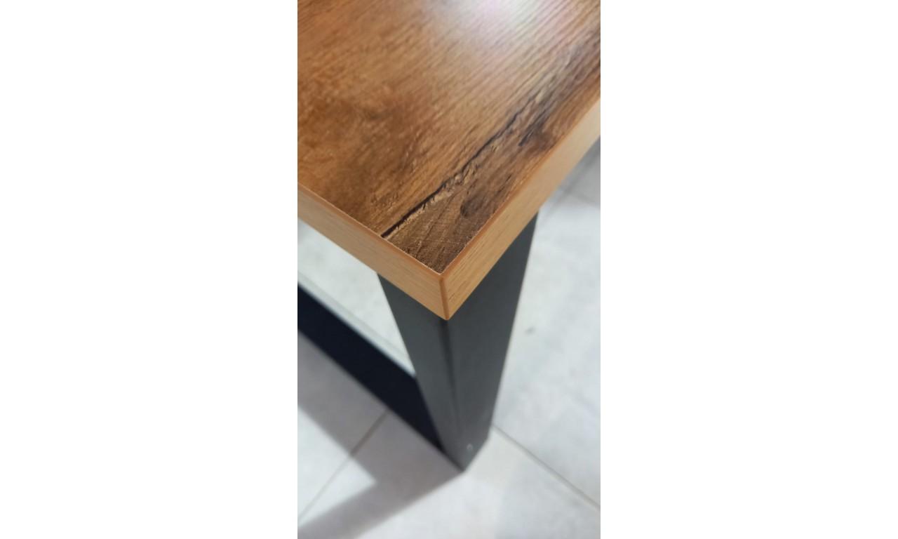 Stół loftowy Imperial (138x90) w dwóch odcieniach blatu do wyboru
