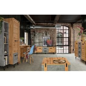 Zestaw mebli do pokoju młodzieżowego w stylu industrialnym LOFTER 7