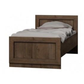 Brązowe łóżko (90x200 cm) w stylu klasycznym Tadeusz T-21