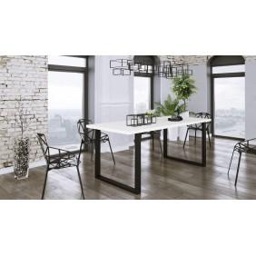 Biały stół w stylu loftowym Imperial (185x67).