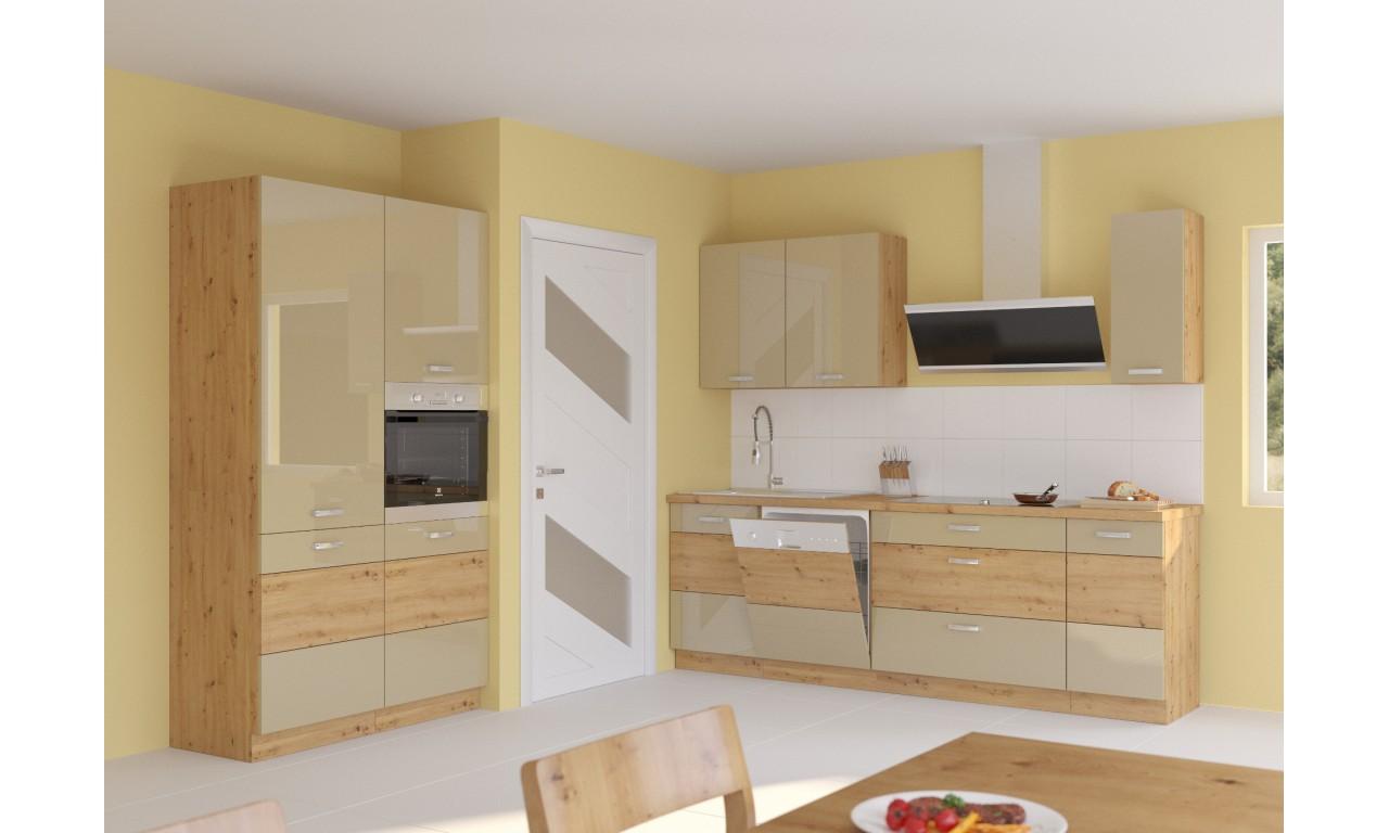 Zestaw mebli kuchennych ARTISAN E cappucino połysk