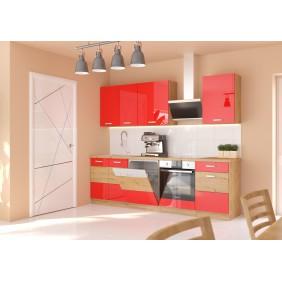 Zestaw mebli kuchennych ARTISAN C czerwony połysk