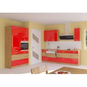 Zestaw mebli kuchennych ARTISAN E czerwony połysk