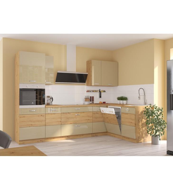 Zestaw mebli kuchennych ARTISAN D cappucino połysk