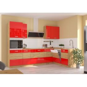 Zestaw mebli kuchennych ARTISAN D czerwony połysk