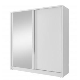 Biała szafa przesuwna (z lustrem lub bez) LUCA 200