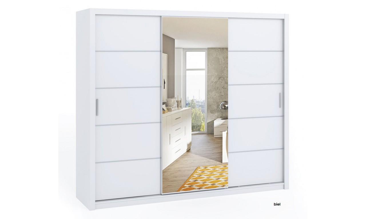 Szafa BONO 250 z lustrem dostępna w kilku wersjach kolorystycznych