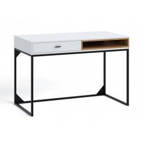 Biurko z kolekcji Olier w kolorze białym lub brązowym