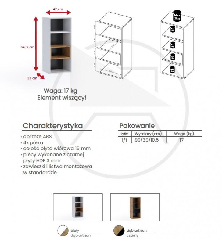 Zestaw mebli do salonu Olier 5 w kolorze białym lub brązowym