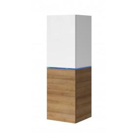Biała lub biało-brązowa szafka wisząca Domino