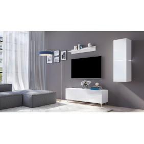 Biały lub biało-brązowy zestaw mebli do salonu Domino 4