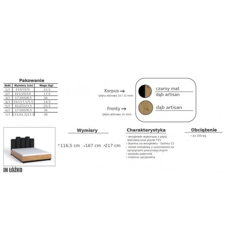 Zestaw brązowo-czarnych mebli do sypialni Ines 4
