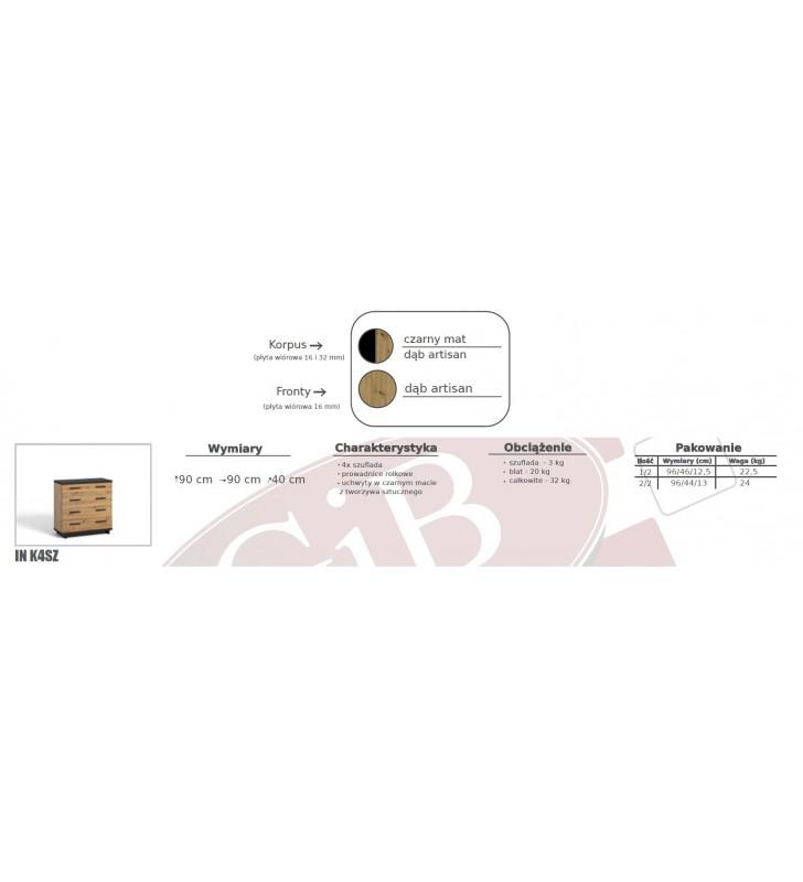 Zestaw brązowo-czarnych mebli do sypialni Ines 6