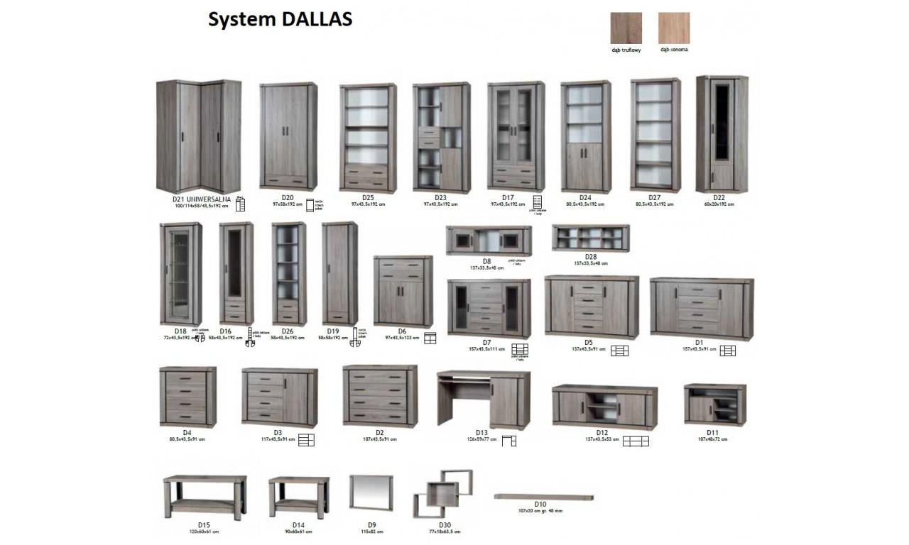 Duża, brązowa ława Dallas D-15