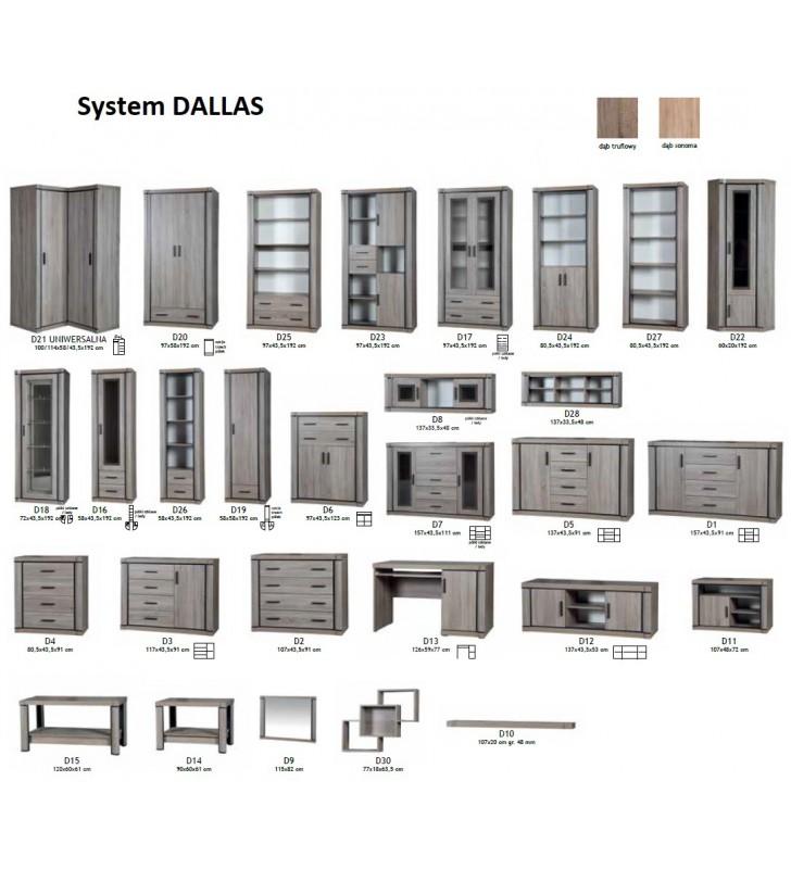 Zestaw brązowych mebli w stylu klasycznym do jadalni Dallas 1