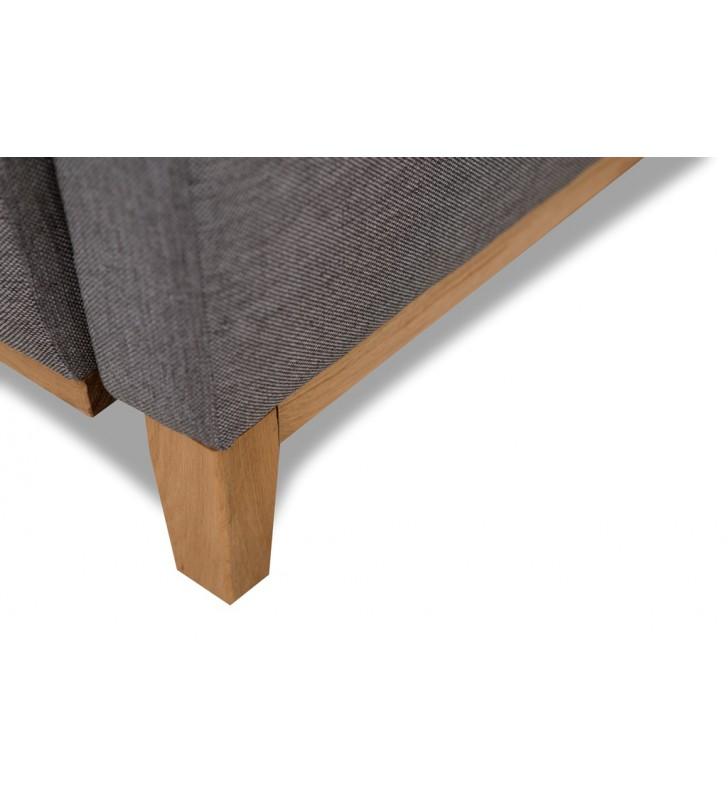 Szara, rozkładana sofa z pojemnikiem na pościel Ariel malmo83