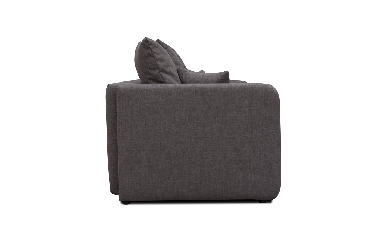Szara, rozkładana sofa z pojemnikiem na pościel Ivet