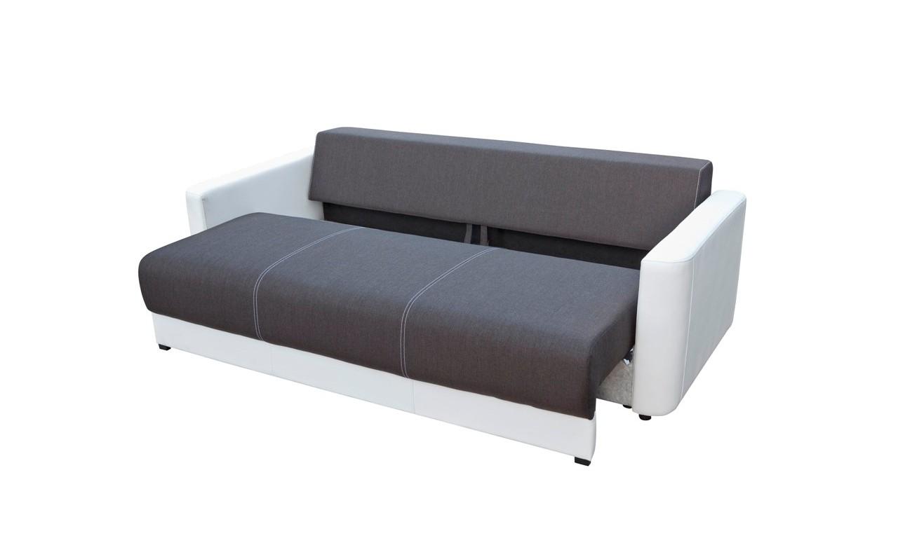Brązowa, rozkładana sofa z pojemnikiem na pościel Xara