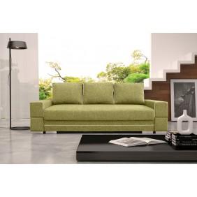 Zielona, rozkładana sofa z pojemnikiem na pościel KS9i35s17