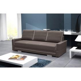 Brązowa, rozkładana sofa z pojemnikiem na pościel Samanta B