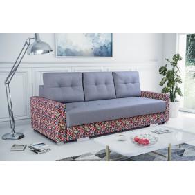 Szara, rozkładana sofa z pojemnikiem na pościel KS17i91p