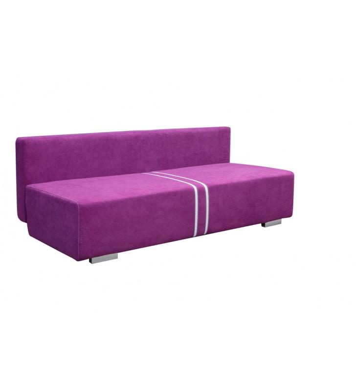 Brązowa, rozkładana sofa z pojemnikiem na pościel Malina