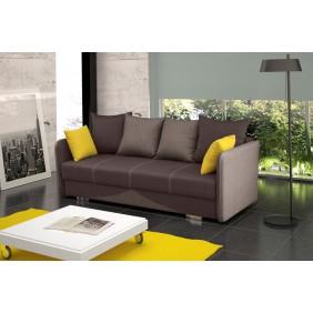 Brązowa, rozkładana sofa z pojemnikiem na pościel Iga