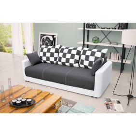 Szara, rozkładana sofa z pojemnikiem na pościel KS8i94s17