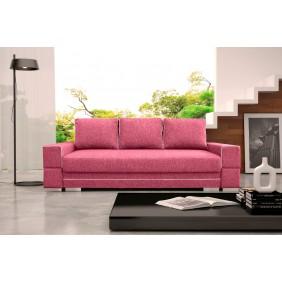 Fioletowa, rozkładana sofa z pojemnikiem na pościel Samanta A