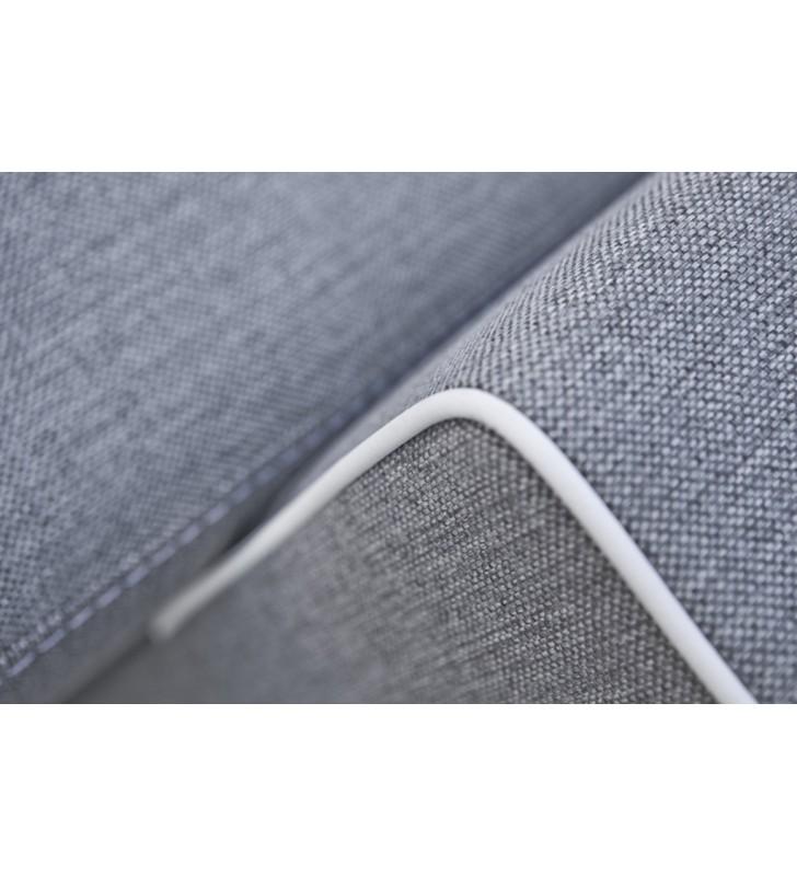 Szara, rozkładana sofa z pojemnikiem na pościel Samanta A