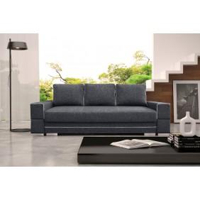 Szara, rozkładana sofa z pojemnikiem na pościel KS9i94s17