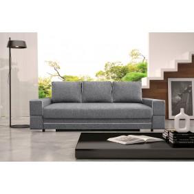 Szara, rozkładana sofa z pojemnikiem na pościel KS9i91s17