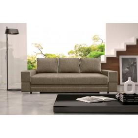 Beżowa, rozkładana sofa z pojemnikiem na pościel KS9i23s17