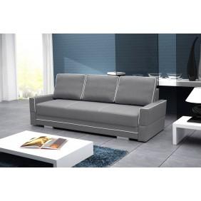 Szara, rozkładana sofa z pojemnikiem na pościel KS10i91s17