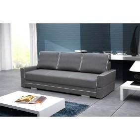 Szara, rozkładana sofa z pojemnikiem na pościel KS10i94s17