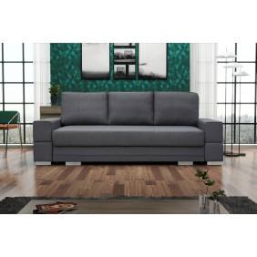 Szara, rozkładana sofa z pojemnikiem na pościel KS11i94
