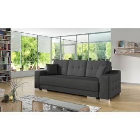 Szara, rozkładana sofa z pojemnikiem na pościel KS13i94