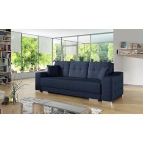 Niebieska, rozkładana sofa z pojemnikiem na pościel KS13m81