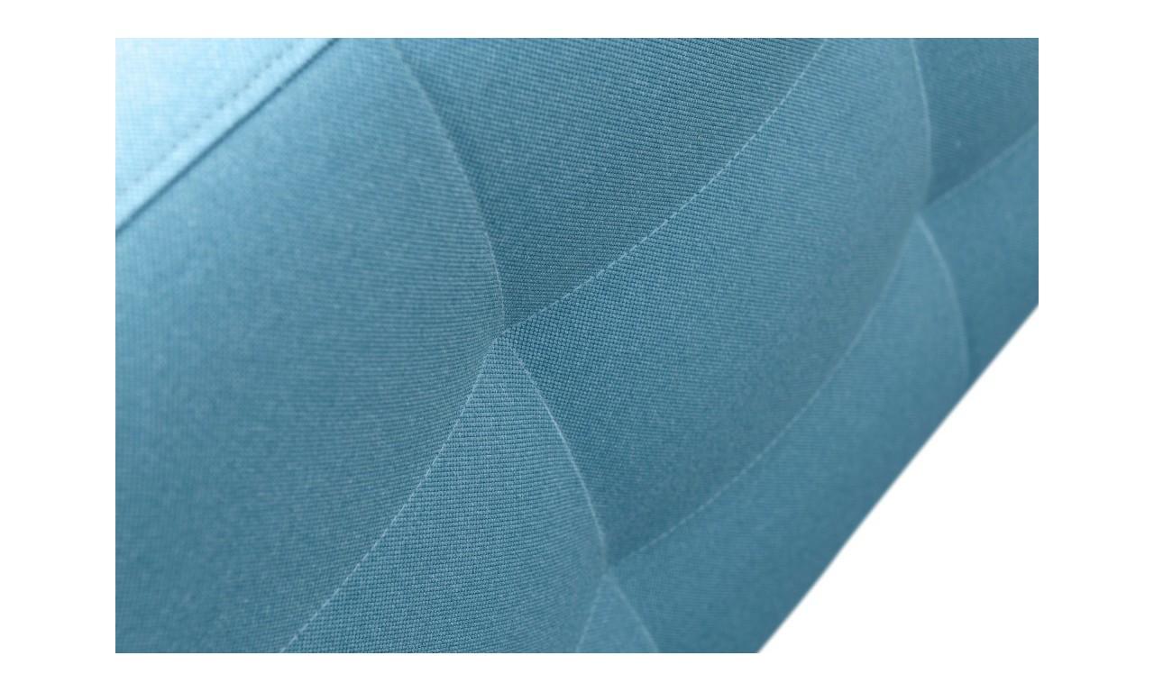 Niebieska, rozkładana sofa z pojemnikiem na pościel Cypis malmo81