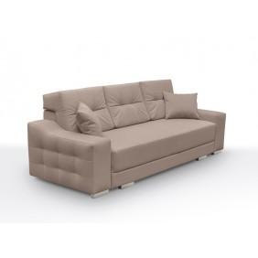 Różowa, rozkładana sofa z pojemnikiem na pościel KS13n03