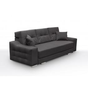 Szara, rozkładana sofa z pojemnikiem na pościel KS13n06