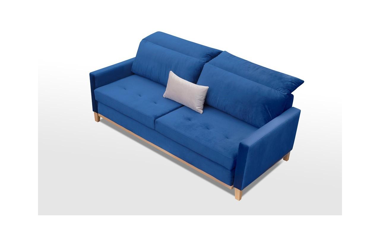 Szara, rozkładana sofa z pojemnikiem na pościel Azja