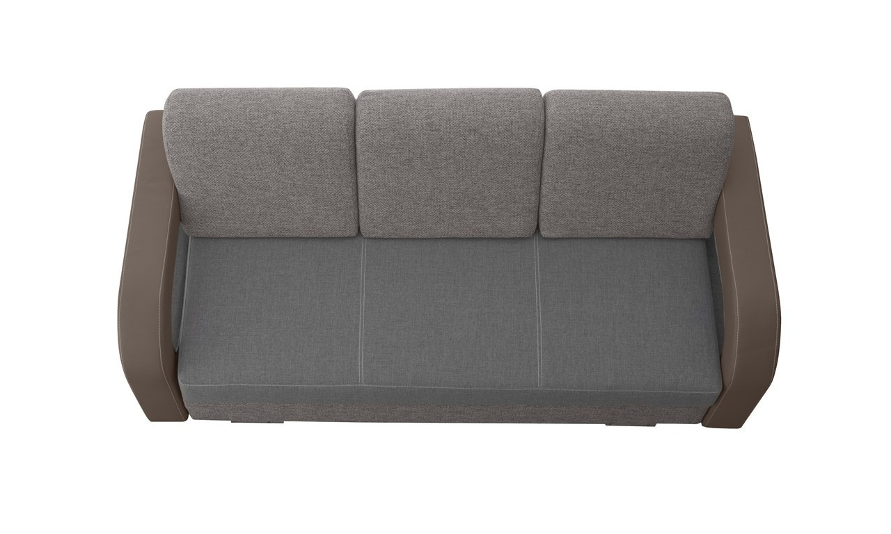 Szara, rozkładana sofa z pojemnikiem na pościel Laura soft24