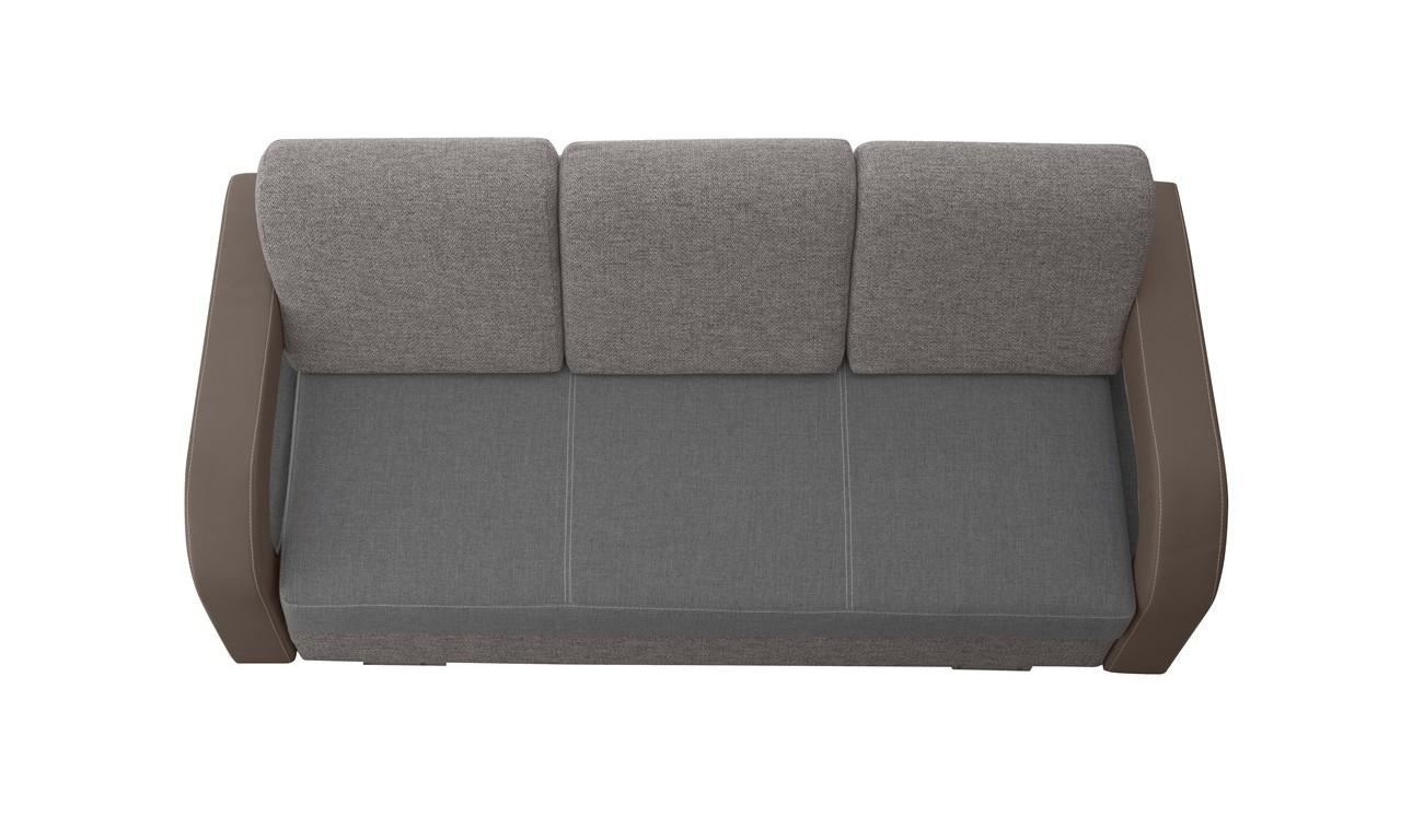 Szara, rozkładana sofa z pojemnikiem na pościel Laura soft66