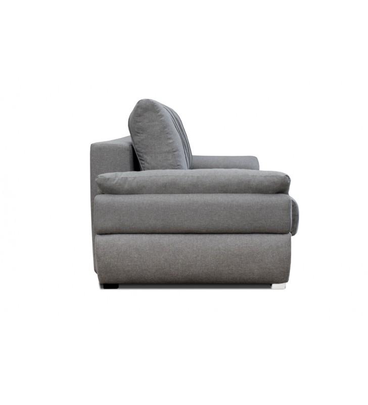 Czarna, rozkładana sofa z pojemnikiem na pościel Benita inari100