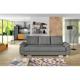 Szara, rozkładana sofa z pojemnikiem na pościel KS19i94