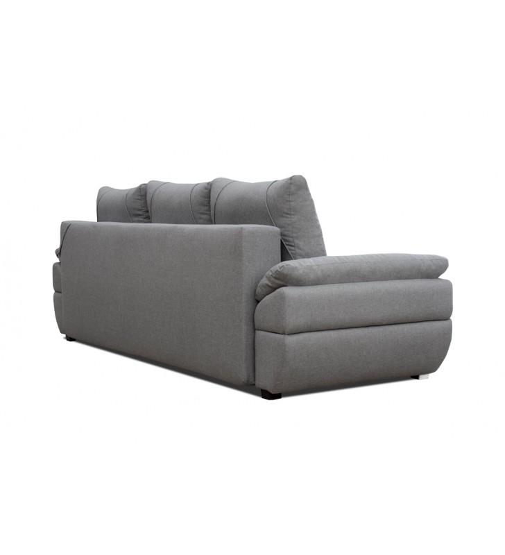 Biała, rozkładana sofa z pojemnikiem na pościel Benita penta01